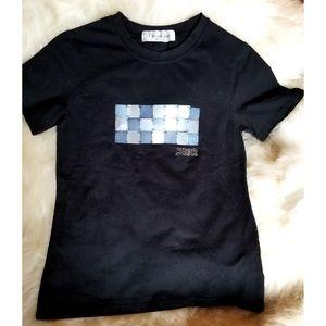 Christian Dior Black Fitted Rhinestone T-shirt